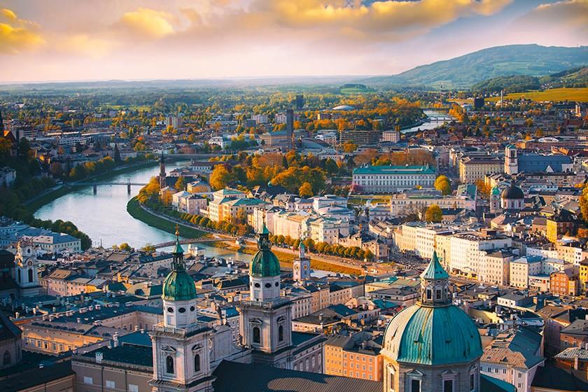 Ansicht Stadt in Österreich