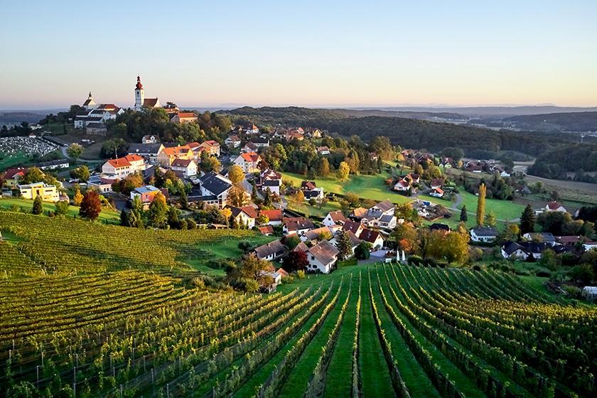 Ansicht Bezirk in Österreich